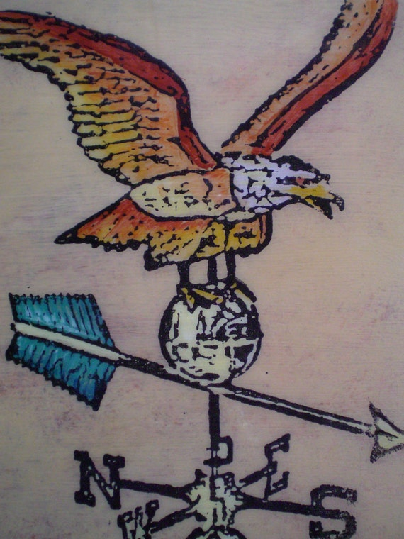 American Eagle Weathervane Painting