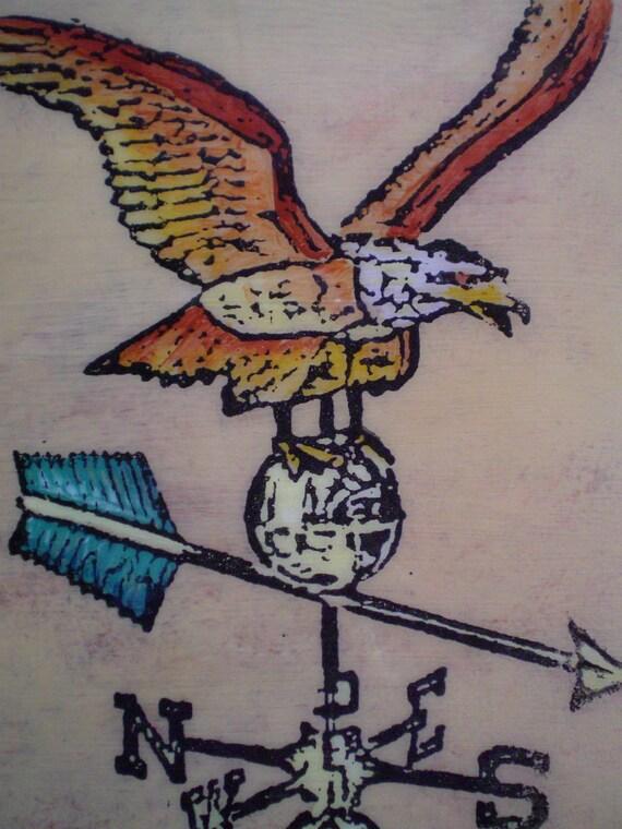 American Eagle Weathervane Painting