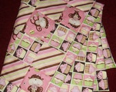 Monkey's and Cupcakes Baby Girl Quilt