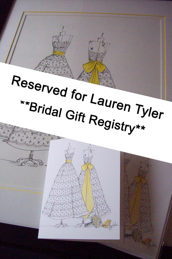 Wedding Gift List Note : TYLER- Bridal Gift Registry- Set of 20 Note Cards with Custom Wedding ...