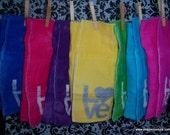 Hand Dyed Love Burp Cloths