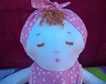Baby Doll - Baby's 1st Baby - Handmade Cloth Doll