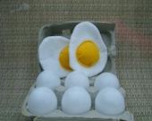 Felt Food Eggs - CRACKABLE