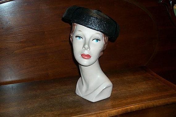 Vintage Mr Rickie Original Black Straw Hat