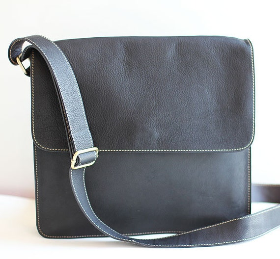 black leather Messenger Bag SALE & FREE SHIPPING