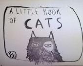 small paper cat zine with original illustrations