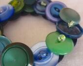 Summer in Greece vintage button bracelet