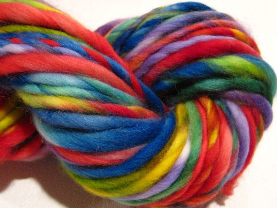 handspun yarn High Fidelity extra bulky yarn, merino wool, 66 yds