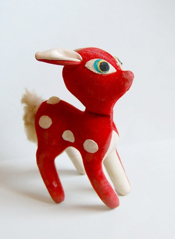 Vintage deer bambi puppet from Germany