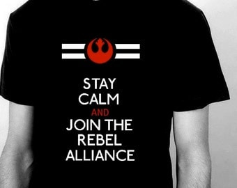 Star Wars Rebel Alliance Black T Shirt for Men - Size S - 5XL