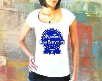 PBR Hipster Irony Shirt  - You M U S T read this