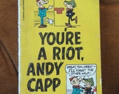 vintage Andy Capp, vintage paperback, You're a Riot, Andy Capp, vintage 1970, Smythe, vintage cartoons, vintage collectible,funny book,laugh
