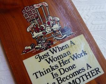 SALE grandmother plaque, wooden wall hanging, pine mountain state park, vintage souvenir, vintage home decor, unique plaque, gift