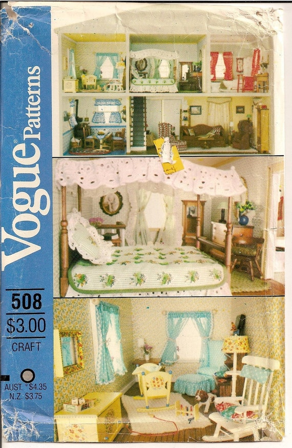 Vintage doll house furniture and transfers home decor toys for Furniture transfers