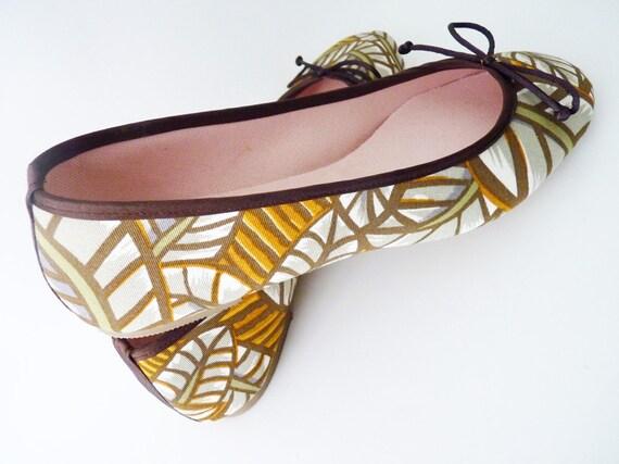Evening Ferns: Handmade Ballet Flats from De Bonis Orquera