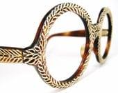 RESERVED Vintage French 60s Round Eyeglasses Frame