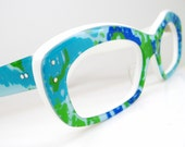 Vintage 80s Sunglasses or Eyeglasses Frame Cat Eye Frame  NOS Shuron Eyewear