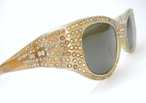Vintage May Sunglasses With Rhinestones Eyewear