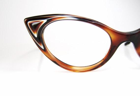 Vintage cat eye eyeglasses eyewear or sunglasses frame brown for Art craft eyeglasses vintage