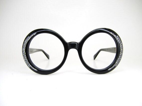 Vintage 50s Round Cat Eye Sunglasses or Eyeglasses Frame NOS