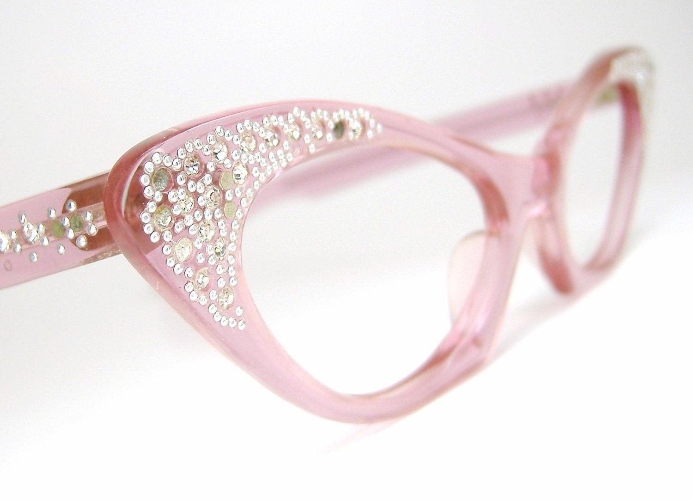 Glasses Frames Pink : Vintage Pink Cat Eye Eyeglasses Eyewear Glasses Sunglasses