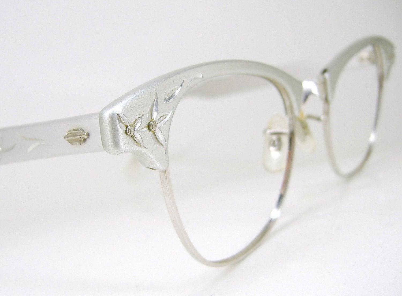 Vintage art craft womens 1950s cat eye eyeglasses frames never for Art craft eyeglasses vintage
