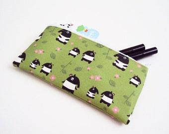 SALE - Tapir Babies Small Cotton Canvas Zipper Pouch