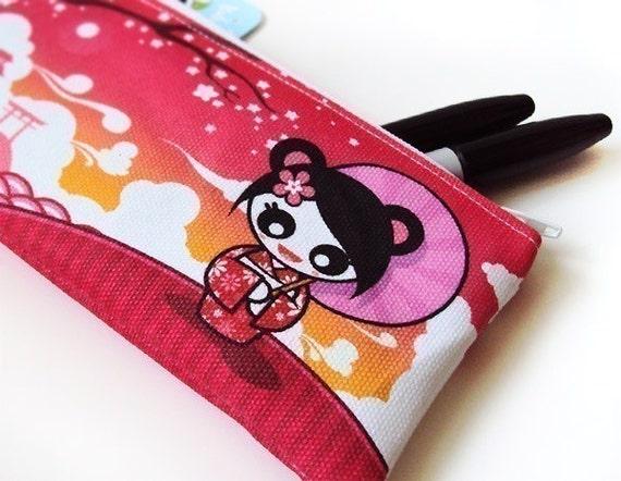 Small Geisha Panda Zipper Pouch