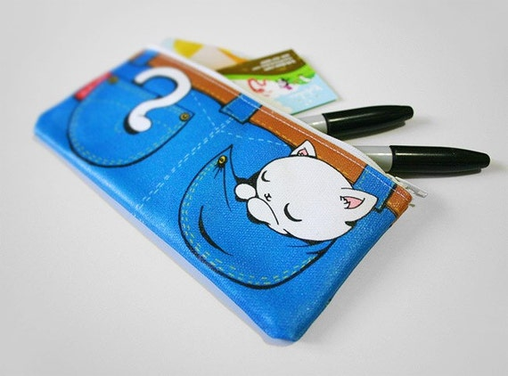 Pocket Kitty Zipper Pouch