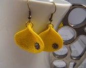 Polymer Clay Trendy Yellow Earrings