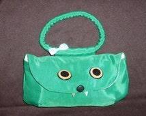 RAAR Monster purse in green satin