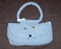 RAAR Monster purse in denim