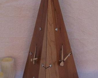 Solid Cherry Obelisk Clock