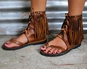 Joplin Hand Stiched Leather Ankle Sandal Brown