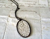 Circled Memories  Vintage Lace Necklace