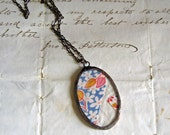 Sweet Country Vintage Quilt Necklace