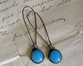 Turquoise Dreams Glass Nugget Earring