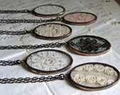 Lace Jewelry Necklace Gift Set for Wedding Vintage Lace Rustic Wedding