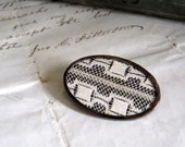 With Love Vintage Lace Oval  Brooch