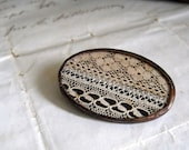 Vintage Lace Oval  Brooch