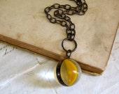 Lemon Slice Shooter Marble Necklace