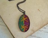 Star Color Crazy Quilt Necklace