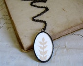 White Wheat Silhouette Necklace