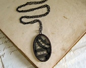 Reserved for Josue  Mysterious Black Lace Necklace Vintage Wedding
