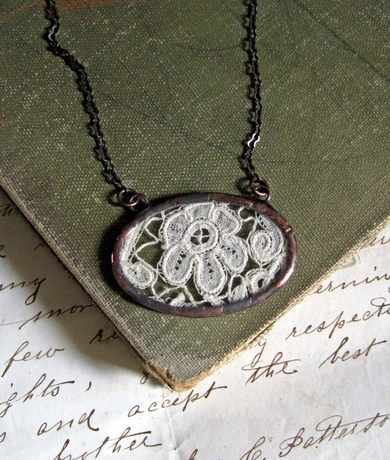 Treasured  Vintage Lace Necklace