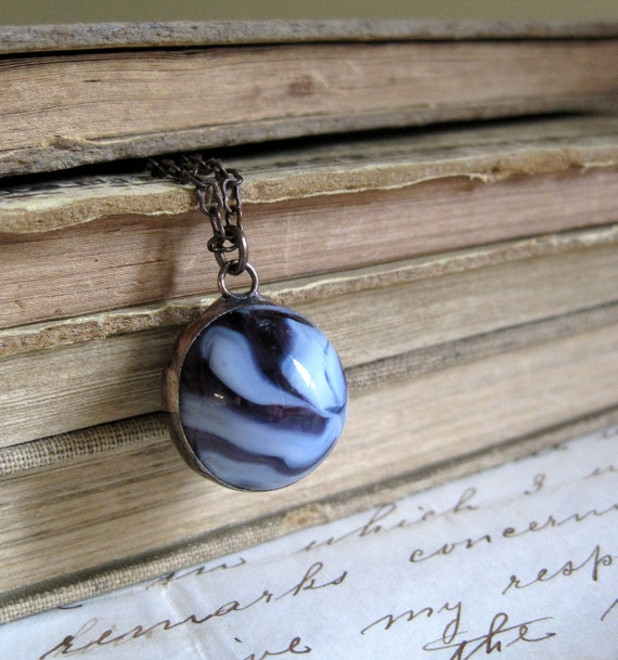 Swirl Vintage Marble Necklace