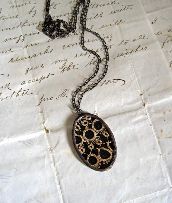 Reserved for Rachel.   Memories Vintage Tatted Necklace