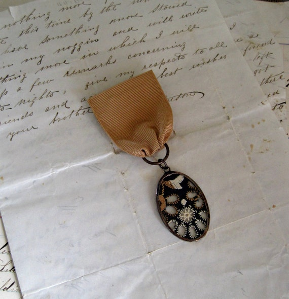 A Medal for Her Vintage Trim Lapel Pin