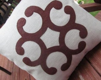 Spa blue and chocolate pillow