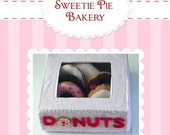 DIY...Felt Food Donuts and Box Pattern PDF
